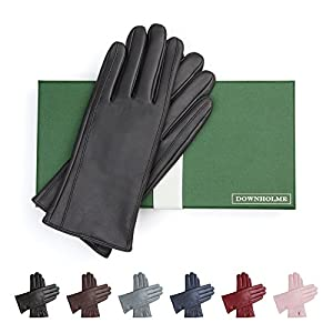 Downholme Classic Leather Cashmere Lined Gloves for Women