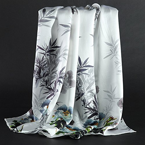 RENYZ.ZKHN Silk Scarf Silk Scarf Scarf All-Match Autumn Middle-Aged Mother In Autumn and Winter In The Elderly Lady 52  175Cm Scarf Scarf