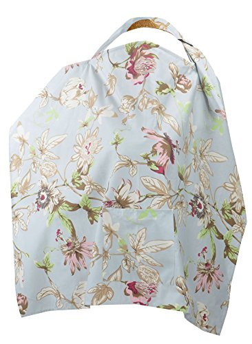 Simplicity Breastfeeding Baby Nursing Cover, Blue Background