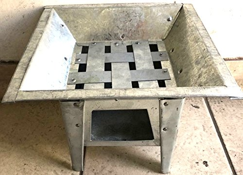 Mexican All Metal Brasero BBQ Grill Fire Pit Outdoor Stove 12''x12'' Made in Mexico by always-quality