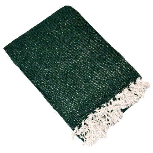 YogaAccessories Solid Color Mexican Yoga Blanket - Green