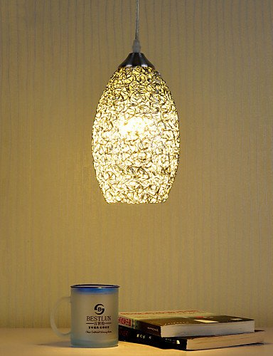 Painted Glass Pinecone Light Fixture - 9