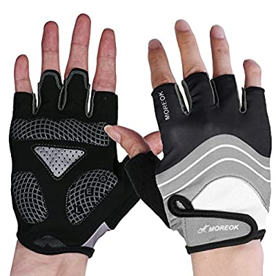 Half Finger Black Gel Road Bike Gloves For Men Dirt Exercise Bike Gloves Women Cool Fashion Cycling Gloves Biking Gloves?Men Climbing Gloves Cycling Gloves?Grey Mountain Bike Gloves For Women And Men