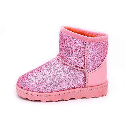 unyielding1 Unisex Baby Winter Shoes Girls Boys Elastic Cute Snow Boots Toddler Girl