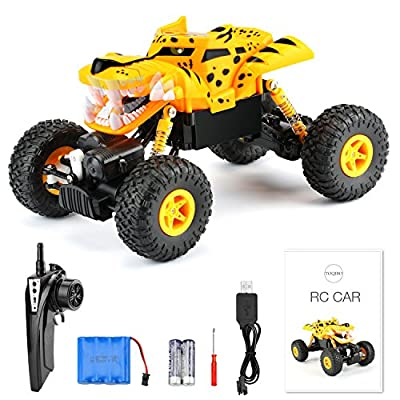 RC Cars Remote Control Car TOQIBO 2.4Ghz 4WD Off Road Racing Car 1/18 Scale Rock Crawler Toys Radio Control Vehicle for Kids and Adults