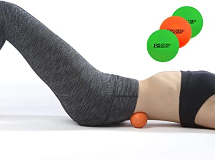 Branded Boards, Massage Lacrosse Balls Set, Massage Lacrosse Balls for Myofascial Release, Sciatic, Plantar Fasciitis Therapy, Trigger Points, Muscle ...
