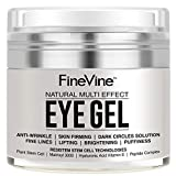 Best Eye Gel Cream For Wrinkles Fine Lines Dark Circles - Anti Aging Eye Gel - Made in USA Review