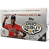 2018 Topps Pro Debut Baseball HOBBY box (24 pk, TWO Autograph & TWO Memorabilia cards per box)