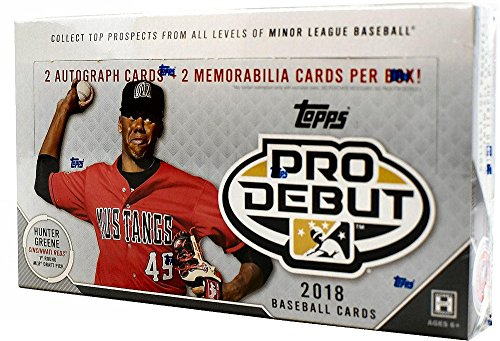 2018 Topps Pro Debut Baseball Hobby Box 24 Pk Two Autograph Two Memorabilia Cards Per Box