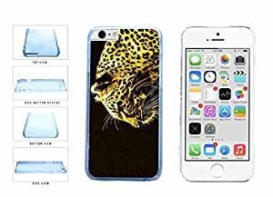 Blue Eyed Gold Cheetah Clear Plastic Phone Case Back Cover Apple iphone 5c