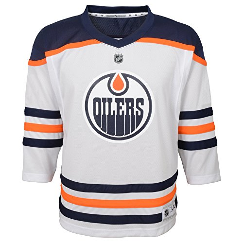 Outerstuff NHL NHL Edmonton Oilers Kids & Youth Boys Replica Jersey-Away, White, Youth Small/Medium (8-12)