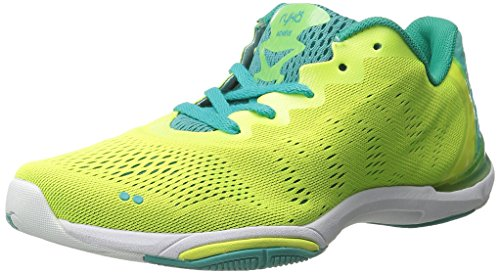 Ryka Women's Achieve Cross-Training Shoe, Yellow/Teal, 10 M US