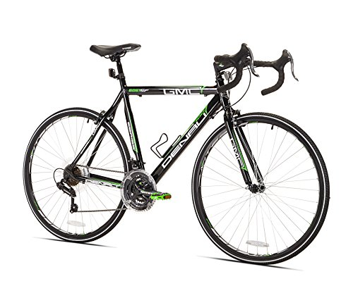 700c Mens Road Bicycle (GMC Denali Road Bike, Black/Green, 25-Inch/Large)