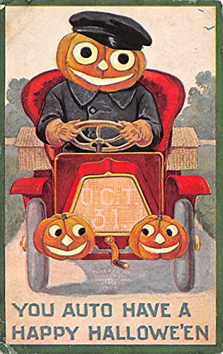 Halloween Post Card Old Vintage Antique Artist Ellen Clapsaddle 1911 -