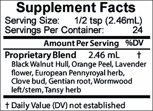 Intestinal Edge - High Potency Digestive Support & Cleanse for Humans with Black Walnut Hull, Wormwood and etc - 2 oz by Go Nutrients (Image #3)