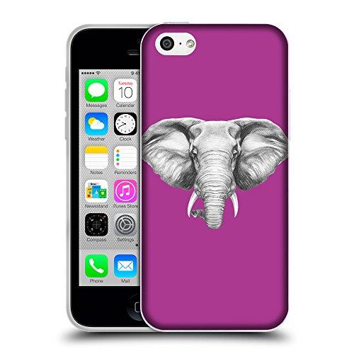 GoGoMobile Coque de Protection TPU Silicone Case pour // Q05130621 Dessin éléphant byzantin // Apple iPhone 5C