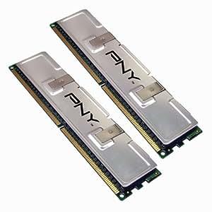 PNY MD2048KD2-533 Optima 2GB 2x1GB Dual Channel Kit DDR2 533 MHz PC2-4200 Desktop DIMM Memory Modules