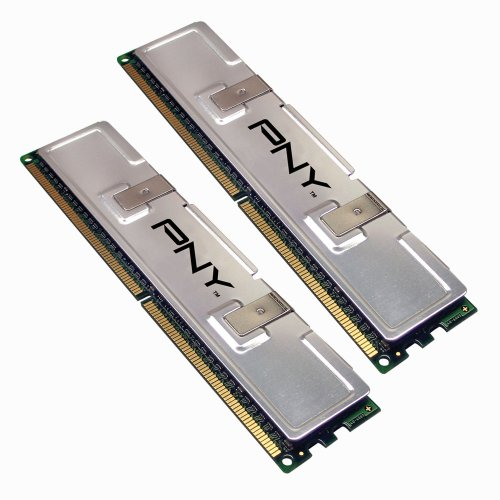 PNY OPTIMA 2GB (2x1GB) Dual Channel Kit DDR2 533 MHz PC2-4200  Desktop DIMM Memory Modules MD2048KD2-533 - Packaging may vary