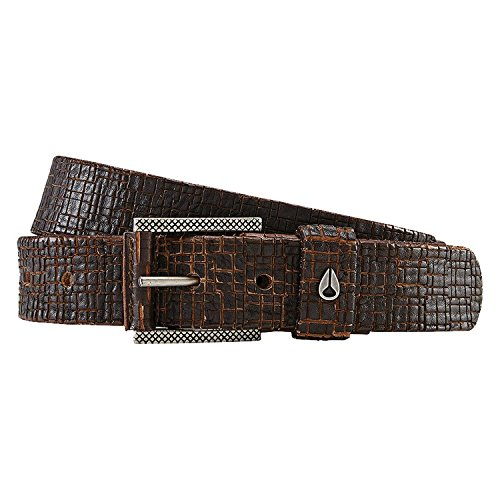 Nixon Men's Americana SE Slim Belt, Dark Brown, Medium Americana Belt