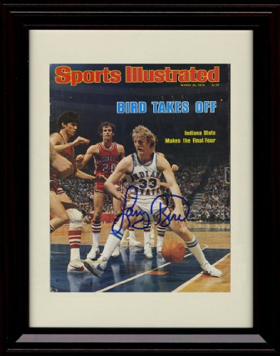 Framed Larry Bird Sports Illustrated Autograph Replica Print - 3/26/1979 - Indiana (1979 College Basketball)
