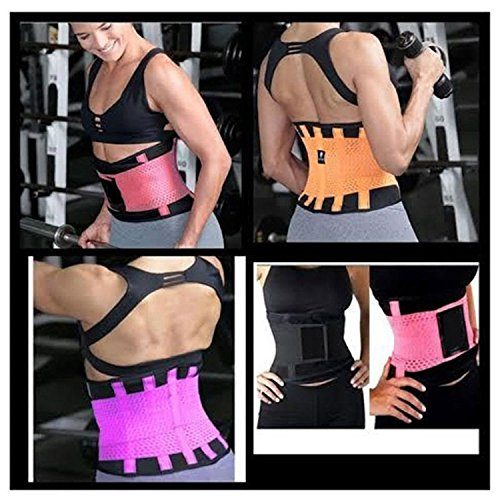 VENUZOR Waist Trainer Belt for Women - Waist Cincher Trimmer - Slimming Body Shaper Belt - Sport Girdle Belt (UP Graded) (Large, Fluorescence Pink) by VENUZOR (Image #9)