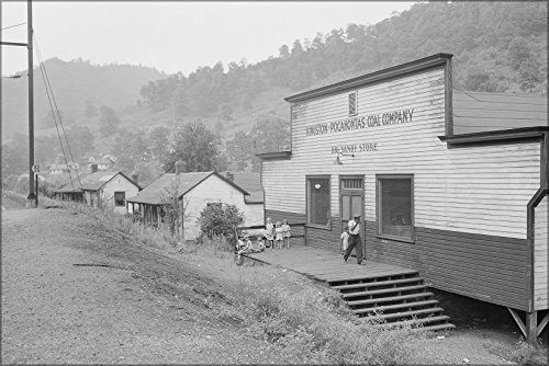 24x36 Poster; Company Store, Nearest Telephone Is In Murraytown, Two Miles Distance, In The Railroad Station. Kingston Pocahontas Coal Company,, West Virginia 1946