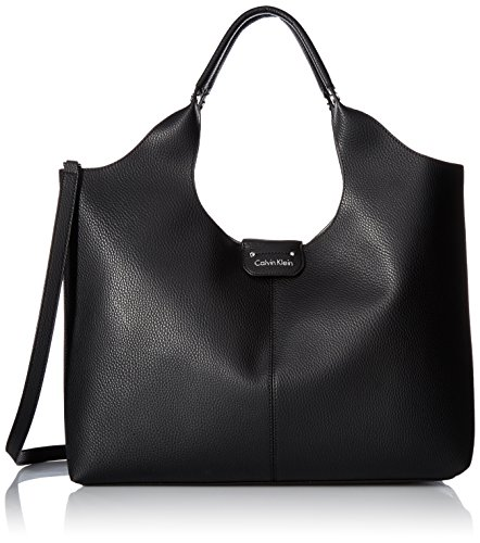 Calvin Klein Unlined Slouchy Tote - Black/Silver - One Size