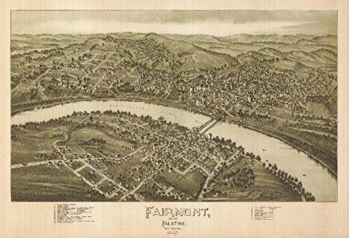 (Fairmont, West Virginia - Panoramic Map (16x24 Giclee Gallery Print, Wall Decor Travel Poster))