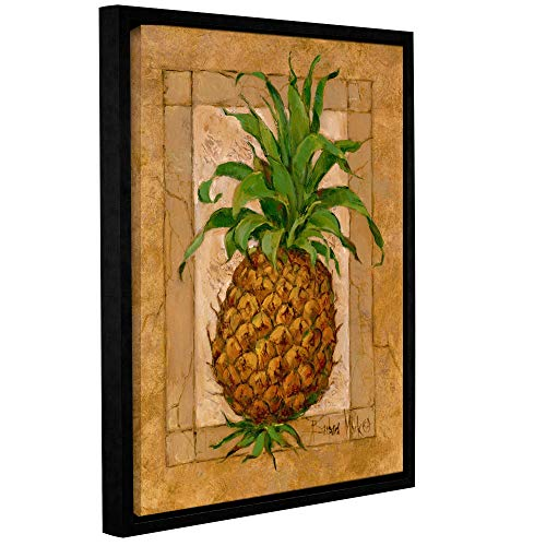 (ArtWall Barbara Mock's Pineapple Pizzazz, Gallery Wrapped Floater-Framed Canvas 14 x 18)