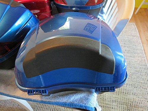 BLUE Hard Scooter Motorcycle Luggage Trunk Locking Case Storage Tail Box