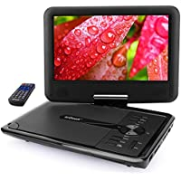 ieGeek 11.5'' Portable DVD Player with 5 Hour Rechargeable Battery, 360° Swivel Eye Protection Screen, Direct Play in Formats MP4/AVI/RMVB/MP3/JPEG, Support SD Card and USB, Black