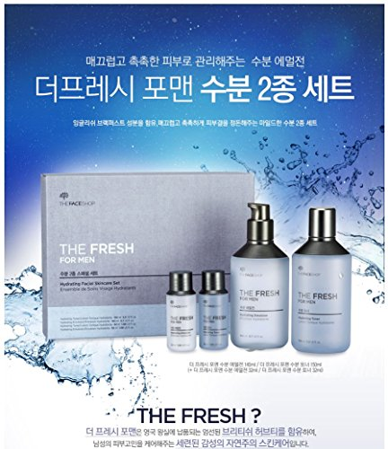 [The Face Shop] the Fresh for Men Hydrating Skin Care Set (4pcs)
