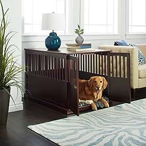Superbe Dog Crate End Table Kennel Pet Cage Wood Indoor Wooden Bed Large Furniture