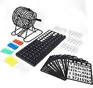 Bingo Game, Deluxe Bingo Game Set, Traditional Wine Set Bingo Game Lucky Ball Bar Party Lottery Machine Family