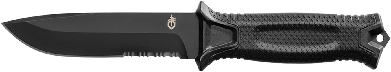 Gerber StrongArm Fixed Blade Knife with Serrated Edge – Black