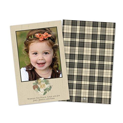 Wreath Flat Card (Holiday Joy Wreath Flat Card)