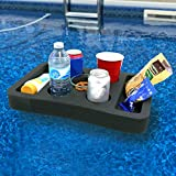Polar Whale Floating Drink Holder Refreshment Table Tray for Pool or Beach Party Float Lounge Durable Black Foam 7 Compartment UV Resistant
