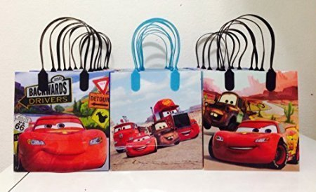 Price comparison product image Disney Car Mc Queen Party Favor Goodie Small Gift Bags (12 Bags)