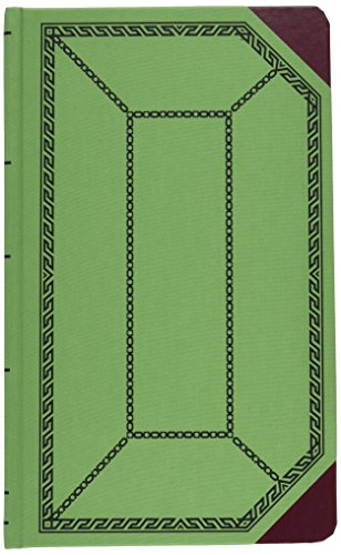 Boorum & Pease 6718500R Record/account book, green/red cover, record rule, 12-1/2 x 7-5/8, 500 pages