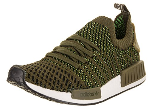 Adidas Mens Nmd_r1 Stlt Primeknit Originals Scarpa Da Running Oliva Core / Nero