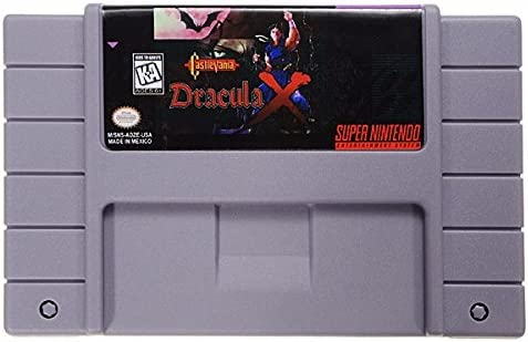 Amazon Com Castlevania Dracula X 16 Bit Game Cartridge Card For Sfc Snes Ntsc System Computers Accessories