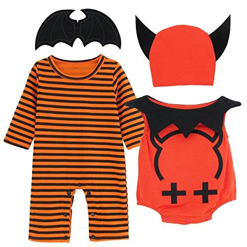 A&J Design Baby Devil Halloween Cosplay Costume Set (3-6 (Set Of Three Halloween Costumes)