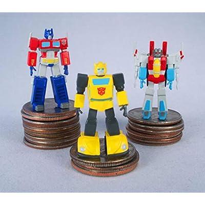 World's Smallest Transformers Bundle Set of 3 Mini Figures - Optimus Prime - Bumblebee - Starscream: Toys & Games