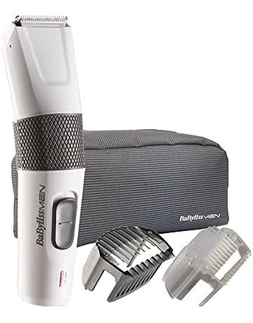BaByliss E795E - Cortapelos 2 en 1 para cabello y barba, cuchillas de acero inoxidable