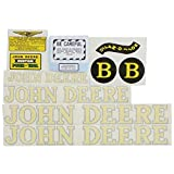 Complete Decal Set For John Deere B Style 1940-1952 Tractor Vinyl Yellow Letters