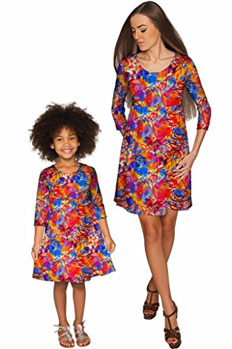PINEAPPLE CLOTHING Summer Dizziness Gloria Empire Waist Mommy and Me Dresses by PineappleClothing