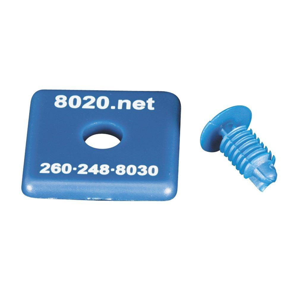 80/20 Inc., 2015BLU, 10 Series, 1010 End Cap Blue (25 Pack)