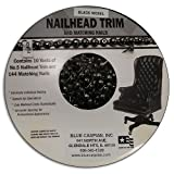 B.C. Upholstery Nailhead Trim with Matching Nails - Black Nickel - 30 ft