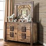 Furniture of America Shaylen I Rustic 4-Piece Natural Tone Low Profile Bedroom Set California King