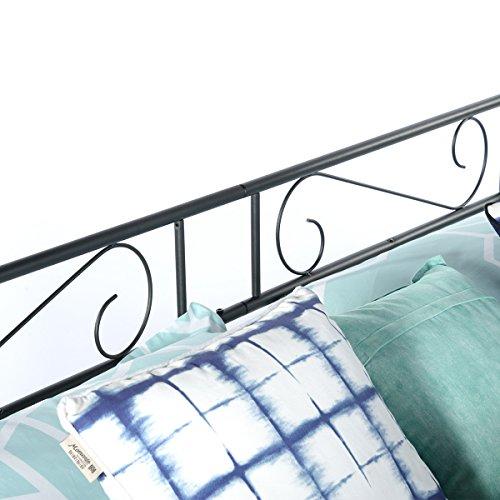 greenforest twin size daybed couch bed frame steel slats platform strong support box spring. Black Bedroom Furniture Sets. Home Design Ideas